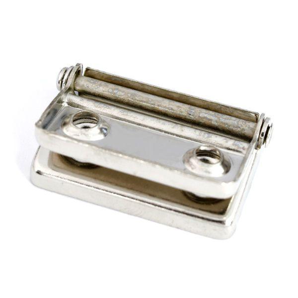 Koffer-Scharnier 180° | vernickelt
