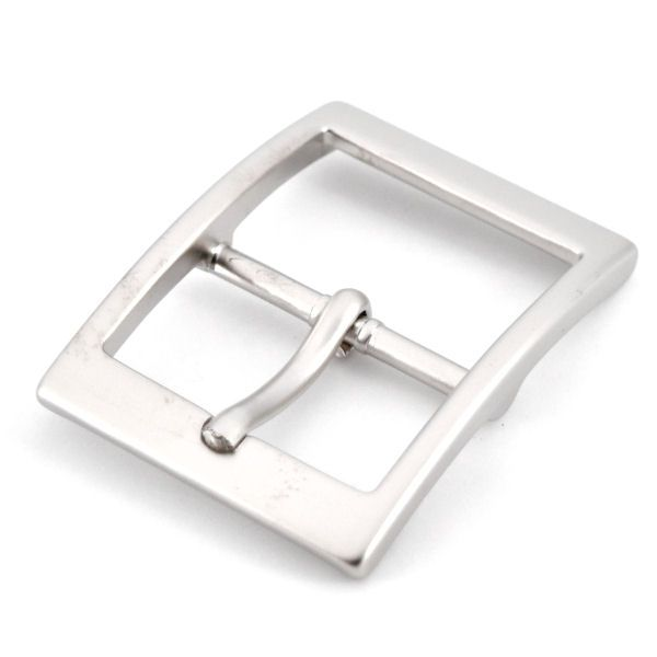 Doppel-Gürtelschnalle 35 mm | nickel matt